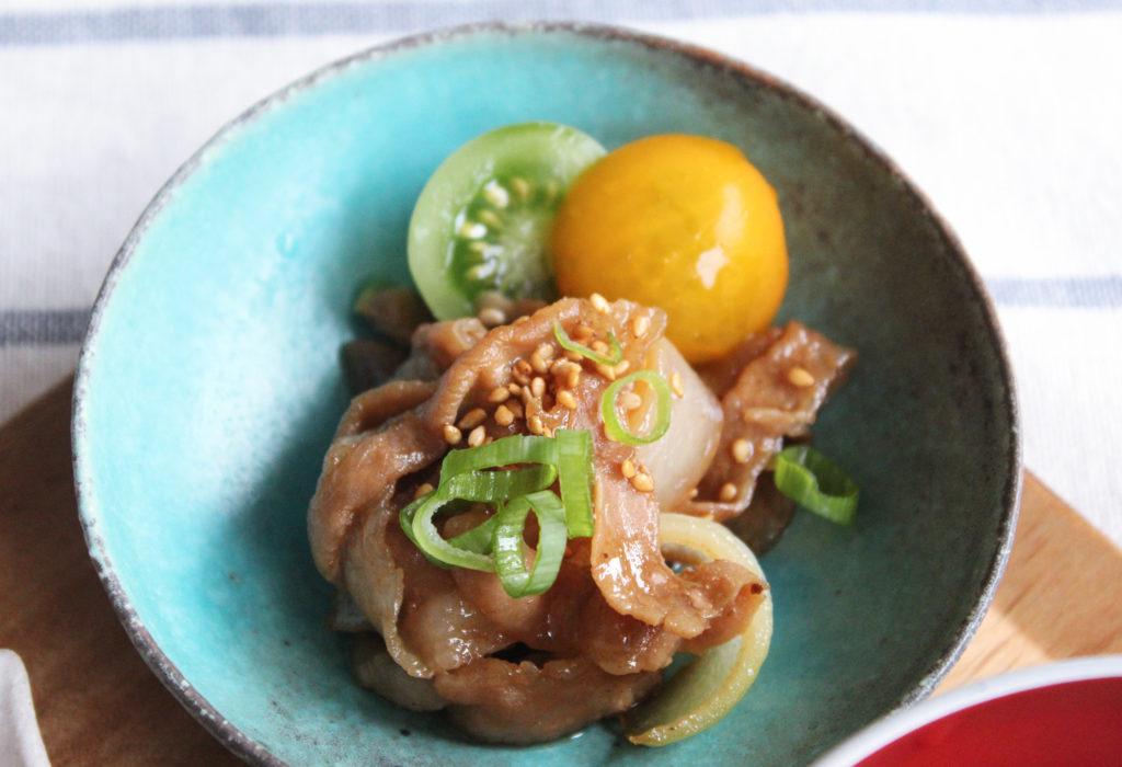 豚バラ肉の甘辛炒め