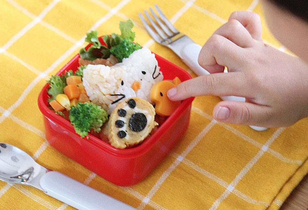 簡単&可愛い猫のデコ弁-幼稚園年少さんのお弁当