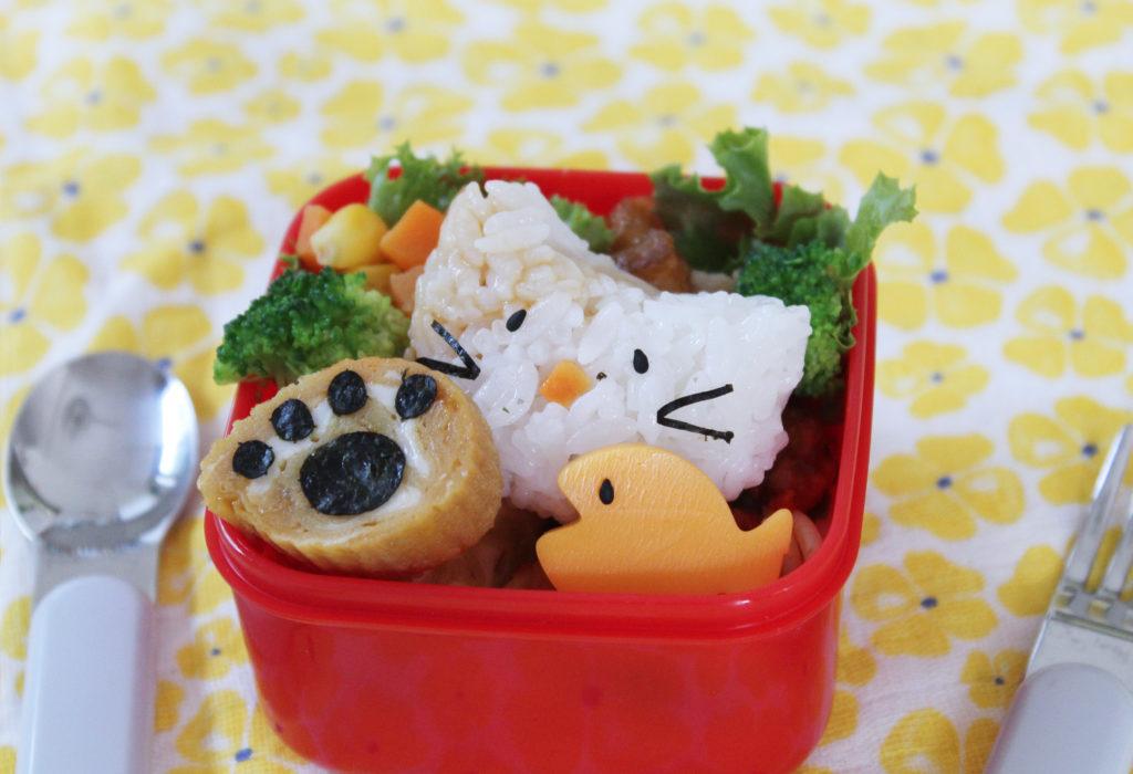 簡単&可愛い猫のゆるキャラデコ弁-幼稚園年少さんのお弁当