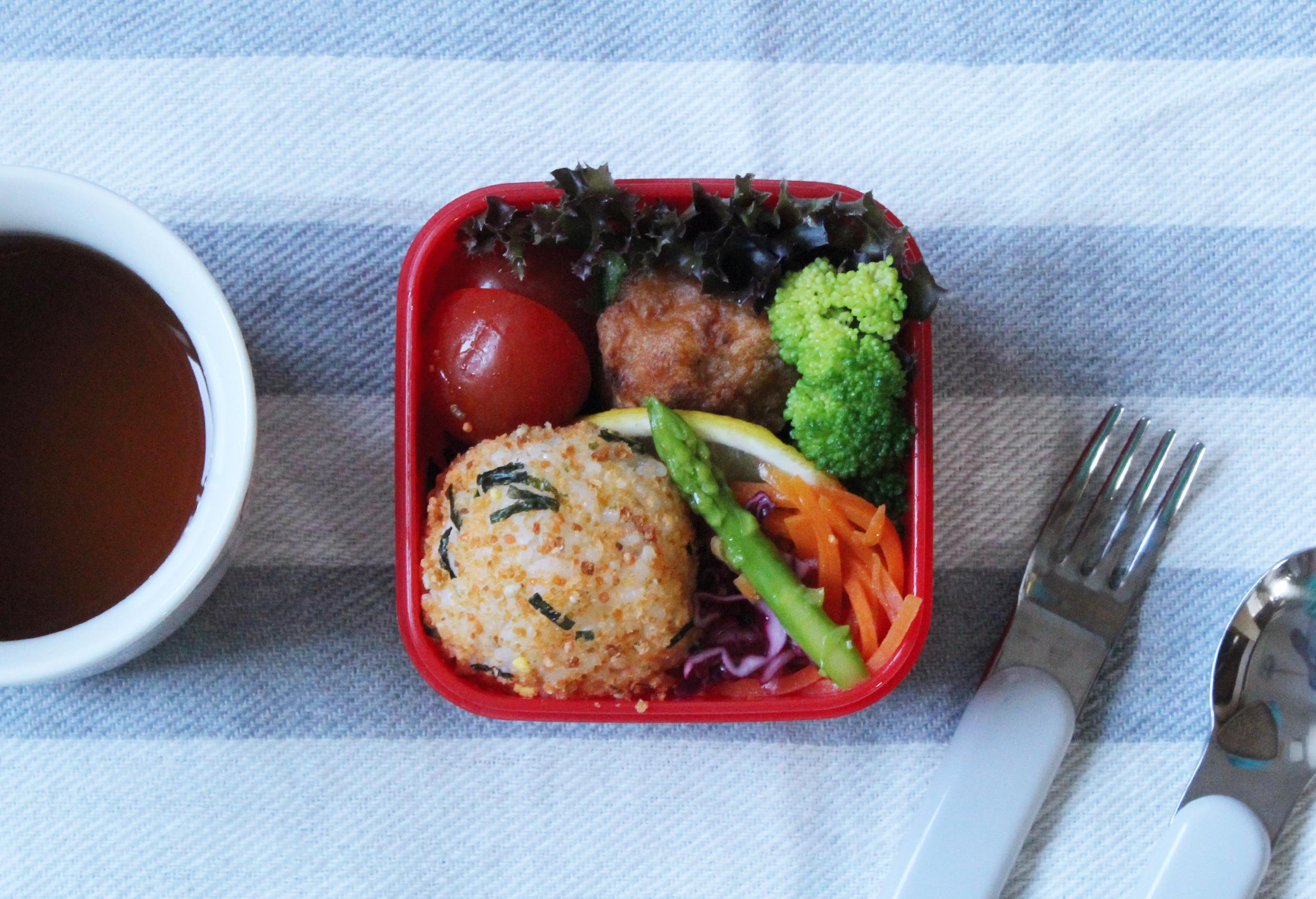 から揚げ&お野菜のシンプルな幼稚園年少さんのお弁当