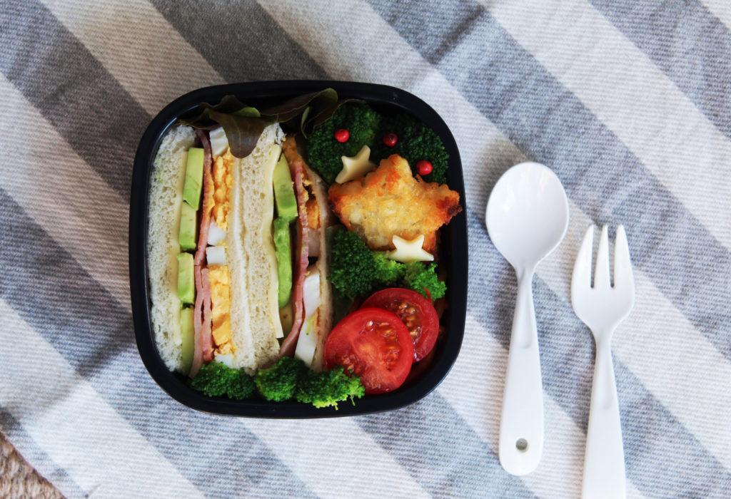 ベーコンエッグアボカドサンド - 幼稚園のお弁当